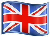 United Kingdom Flag Icon, isolated on white background poster