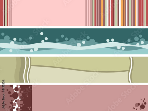 four abstract web banners