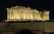Parthenon, Acropolis in Athens by night