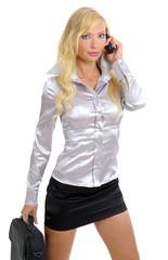 Businesswoman calls on phone