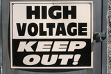 High Voltage Sign poster