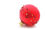 Jewelled Red Christmas Bauble poster