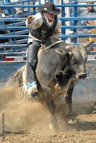 Leinwandbild Motiv Rider & Bull