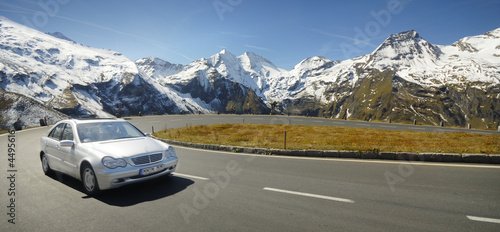 Leinwanddruck Bild Alpen Drive