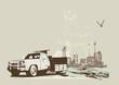 roleta: vintage  truck