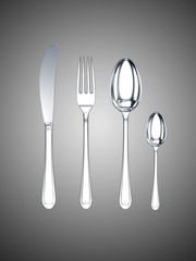 knife, fork, spoon, tea-spoon