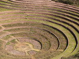 Ancient Inca circular terraces at Moray, Peru poster