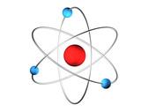3D Atom poster