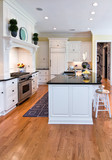 beautiful expensive kitchen with white cabinets poster
