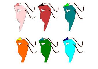 maschere colorate