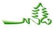 ruban Noël vert