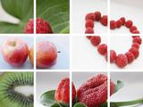 Frutas rojas y verdes poster