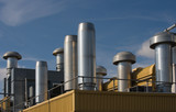 Factory rooftop heating and ventilation