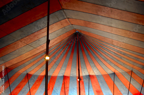 Plexiglas Carnaval big top interior
