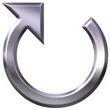 3D Silver Circular Arrow poster