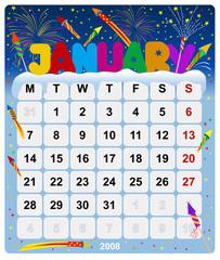 Calendar 2008 - January - Europe