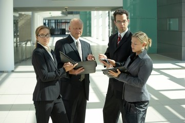 businesspeople arranging a date