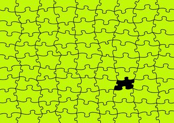 vector puzzle with missing piece