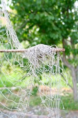 fishing net hanging in the garden 2