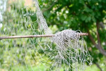 fishing net hanging in the garden