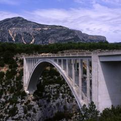 Pont de l'Artuby over Grand Canyon du Verdon. South of France