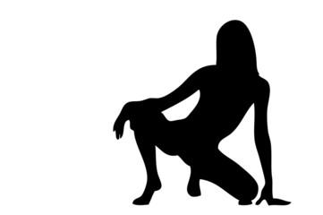 woman black silhouette