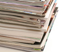 stack of magazines isolated poster
