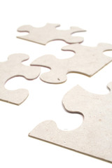 puzzle on white isolated