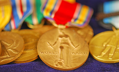 American Veteran's World War II Medals
