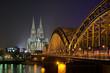 Leinwanddruck Bild - Kölner Dom
