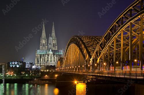 Leinwanddruck Bild Kölner Dom