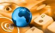 internet - orange blue earth