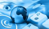 Fototapety internet - blue earth