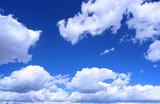 White clouds vista poster