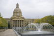 Alberta Legislature in the fall