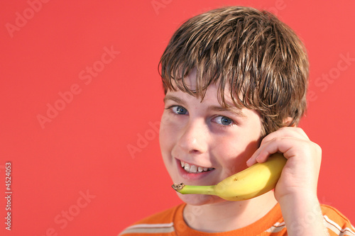 boy on banana phone
