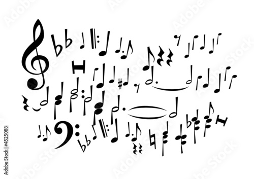 Music Notes (editable vector or XXL jpeg image)