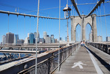Brooklyn Bridge in linking Manhattan and Brooklyn