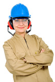 female manual worker poster
