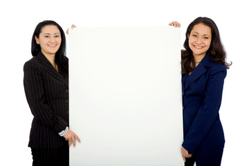 business women doing a presentation