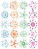 Twenty decorative ornaments, snowflakes,vector illustration poster