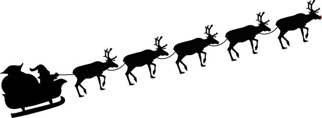 santa + Rudolph`s