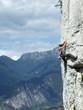 Klettern über dem Gardasee