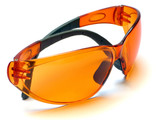 orange goggles poster