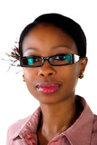 African business lady glasses poster