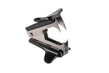 Staple remover isolated on white poster