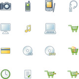project e-shop icons poster