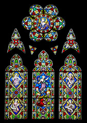 Stained glass window from 19th Century chapel in England