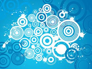 Grunge circle background