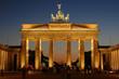 Leinwanddruck Bild - Brandenburg gate